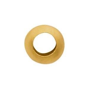 Gold Spacer Bead - Large Hole Spacer in 24K Gold Plate 5x3mm