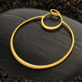 Gold Pendant - Openwork Eclipse with 24K Gold Plate