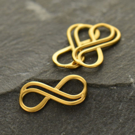 Double Wire Infinity Link in 24K Gold Plate DISCONTINUED