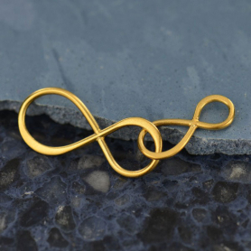 Jewelry Part - Big and Little Infinity Link 24K Gold Plate