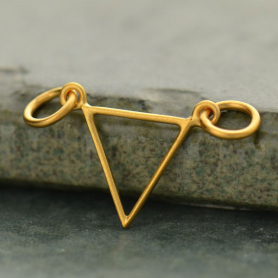 Open Triangle Festoon in 24K Gold Plate DISCONTINUED