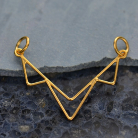 Three Triangle Festoon in 24K Gold Plate DISCONTINUED