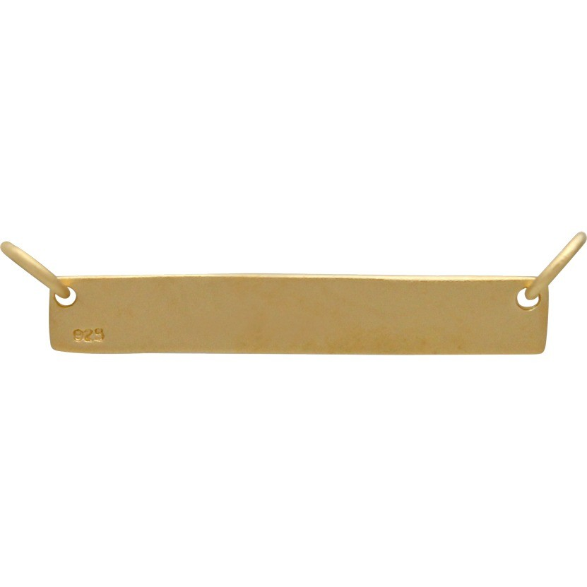Jewelry Part - Stamping Blank Bar in 24K Gold Plate 7x30mm
