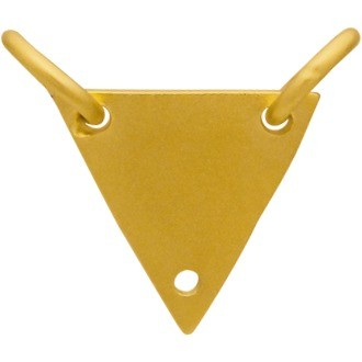 Triangle Festoon with Holes in 24K Gold Plate 13x10mm