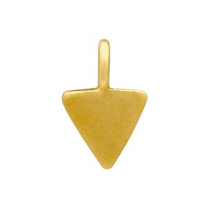 Gold Charm - Tiny Triangle with 24K Gold Plate 8x5mm