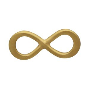 24K Gold Plated Tiny Infinity Link 10x4mm