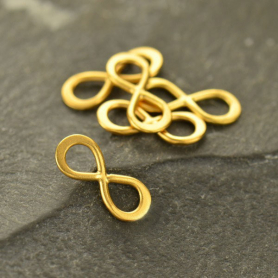 Jewelry Supply - Tiny Infinity Charm Link in 24K Gold Plate