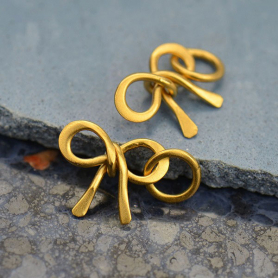 Gold Charm -  Tiny Bow with 24K Gold Plate DISCONTINUED