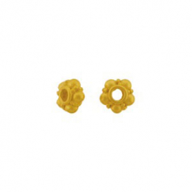24K Gold Plated Spacer Bead - Granulated Spacer 5x3mm