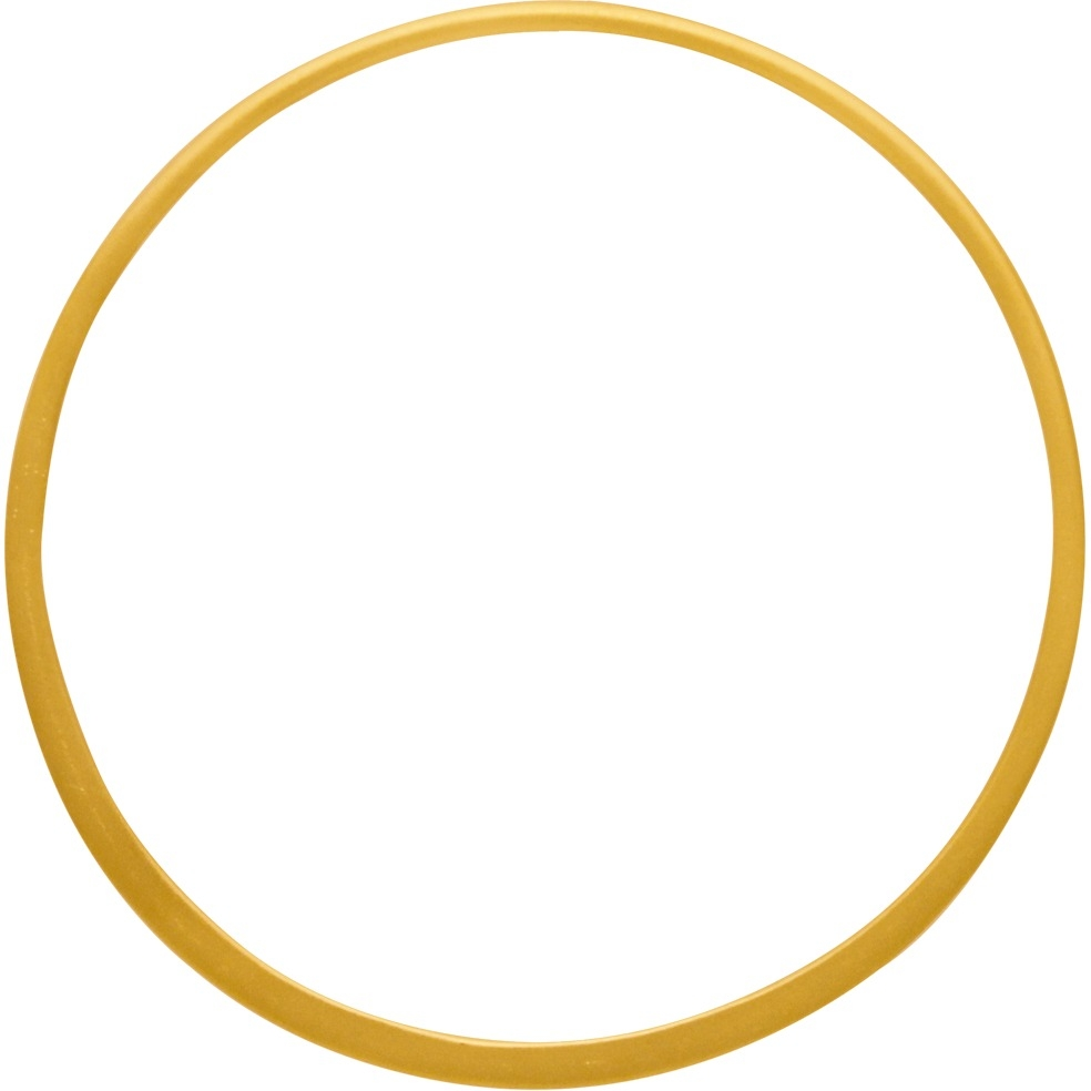 24K Gold Plated Half Hammered Circle Jewelry Link 43mm