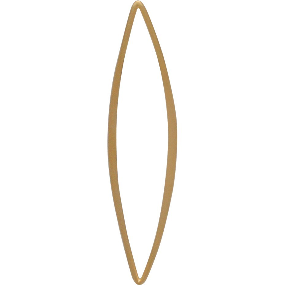 Jewelry Supplies - Lg Skinny Marquis Link in 24K Gold Plate