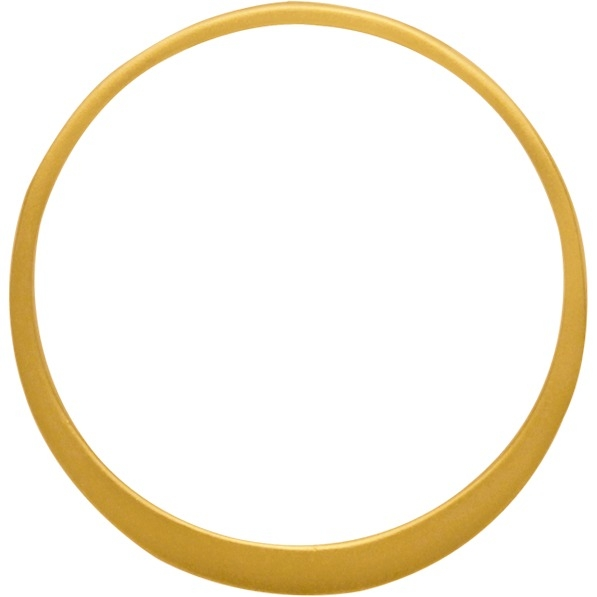 Circle Frame with Two Holes with 24K Gold Plate 25x25mm