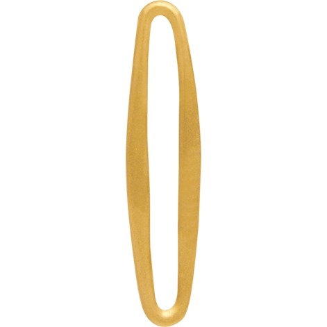 24K Gold Plated Skinny Oval Link 20x4mm