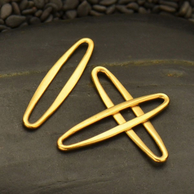 Jewelry Part - Sm Skinny Oval Link in 24K Gold Plate