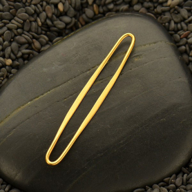 24K Gold Plated Skinny Oval Link 40x6mm