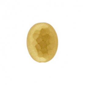 Gold Bead - Hammered Oval with 24K Gold Plate