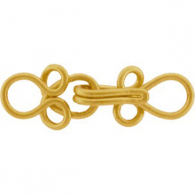 Gold Clasp - Small Hook and Eye in 24K Gold Plate