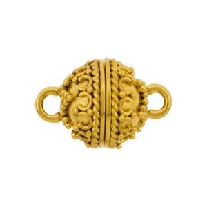 Gold Clasp - Round Shape with 24K Gold Plate 16x10mm