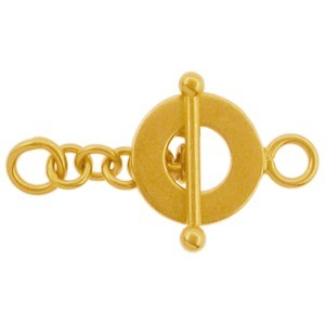 Gold Clasp - Toggle with 24K Gold Plate