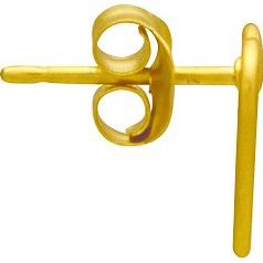 24K Gold Plated Stud Earrings - Openwork Heart 9x8mm