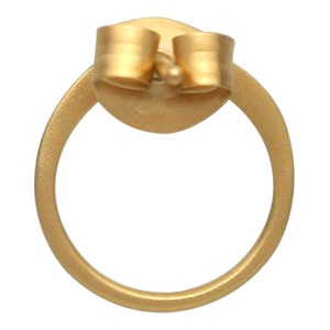 24K Gold Plated Open Circle Stud Earring 10x10mm