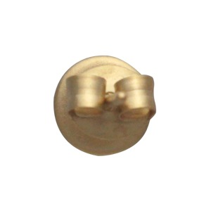 Gold Stud Earrings - Circle Post in 24K Gold Plate 6x6mm