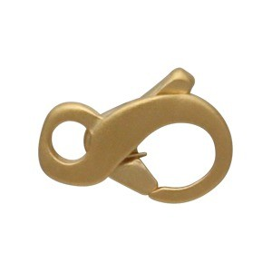 24K Gold Plated Sterling Silver Infinity Lobster Clasp -9mm