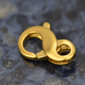 24K Gold Plated Sterling Silver Infinity Lobster Clasp -11mm
