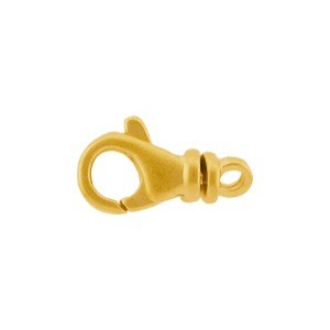 Gold Clasp - Medium Lobster Swivel in 24K Gold Plate