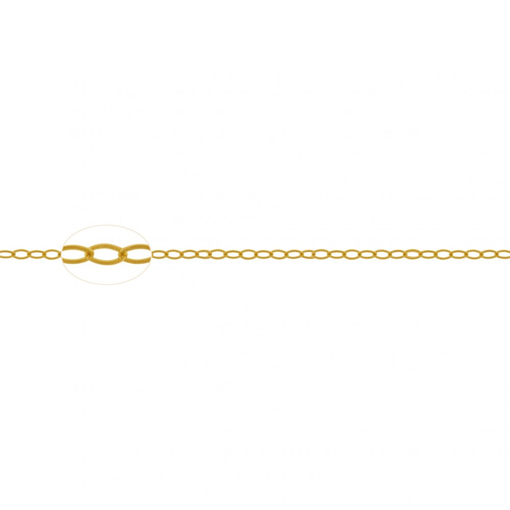 Gold Chain - Scored Wire Cable with 24K Gold Plate