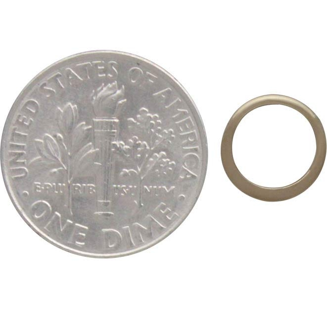 Jewelry Part - Half Hammered Circle Link 14K Gold Plate 9mm