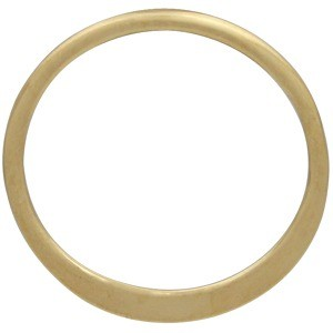 Half Hammered Circle Link in 14K Shiny Gold Plate 12mm