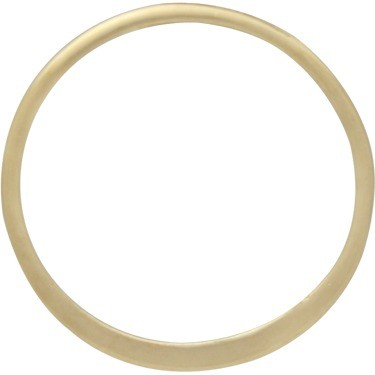 14K Gold Plate Half Hammered Circle Jewelry Link 15mm