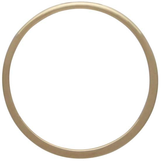 14K Gold Plate Half Hammered Circle Jewelry Link 25mm