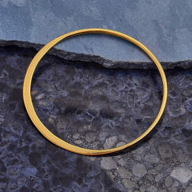 14K Gold Plated Half Hammered Circle Jewelry Link 36mm