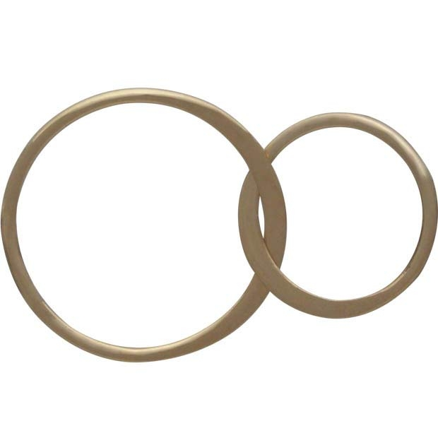 14K Shiny Gold Plate Two Circles of Life Link 17x27mm