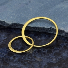 14K Shiny Gold Plate Two Circles of Life Link -27mm