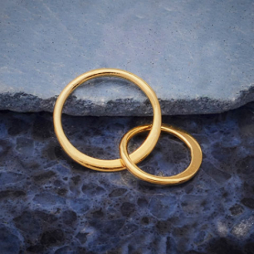 14K Shiny Gold Plated Two Circle of Life Link 19x12mm