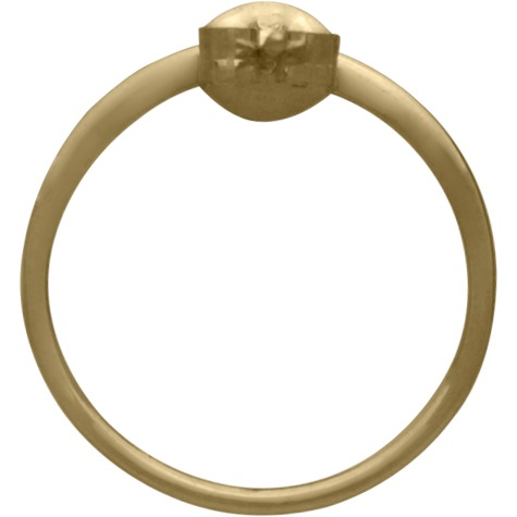 Open Circle Post Earring in 14K Shiny Gold Plate 18x18mm