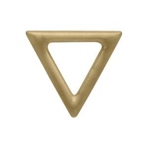 Open Triangle Post Earrings in 14K Shiny Gold Plate