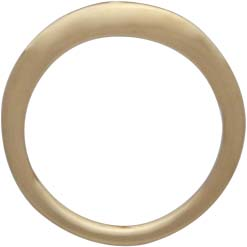14K Shiny Gold Plated Open Circle Post Earrings -10mm