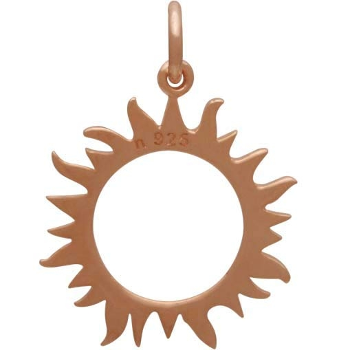 18K Rose Gold Plated Eclipse Sun Charm