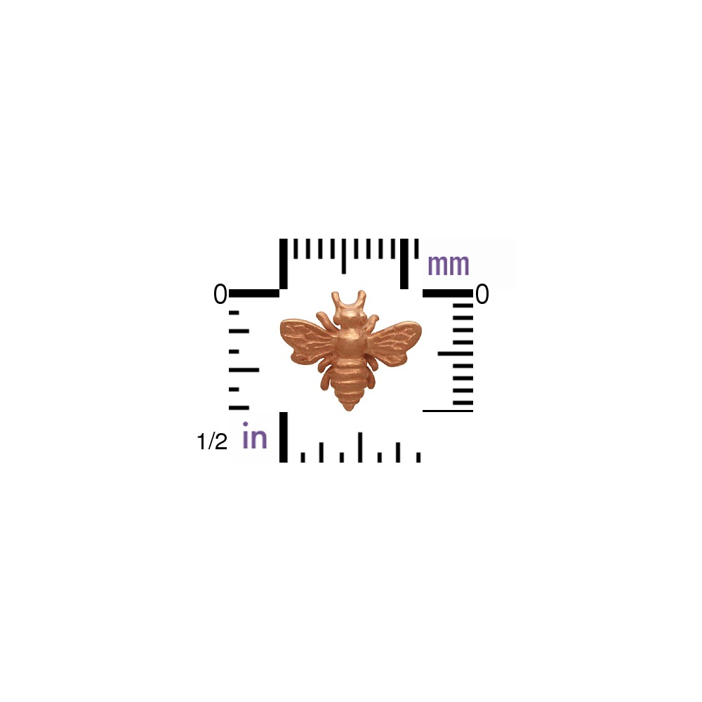 18K Rose Gold Plated Bumble Bee Post Earring 9x11mm