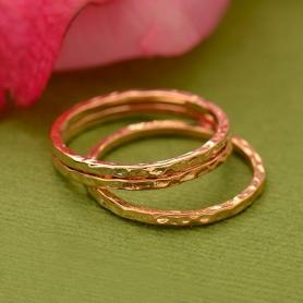 Rose Gold Hammered Stacking Ring
