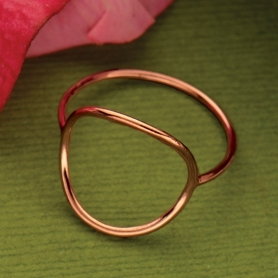 Rose Gold Wire Circle Ring
