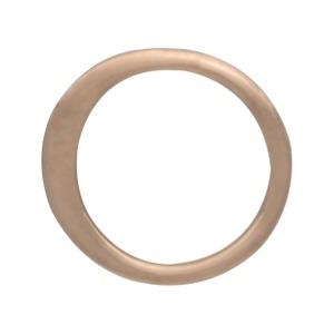 18K Rose Gold Plated Half Hammered Circle Link 9mm