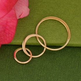 18K Rose Gold Plate Three Circles of Life Link -37mm