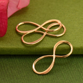 18K Rose Gold Plated Infinity Link 8x19mm