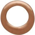 Rose Gold Plated Half Hammered Circle Jewelry Link -6mm