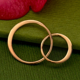 18K Rose Gold Plate Two Circles of Life Link -27mm